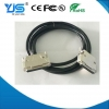 China Metal Assembly DB37P Connector to 37Pin D Type SCSI LVD Cable for sale