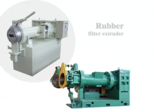 China Easy To Maintain Plastic And Rubber Strainer Extruder Machine on sale