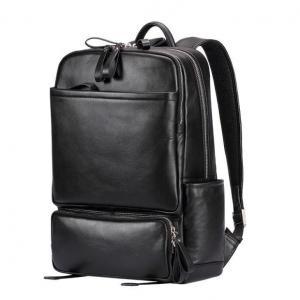 China Luxury Black Fashion Loptop Backpack Man Softback Computer Backpack Men Leather Travel Bag on sale