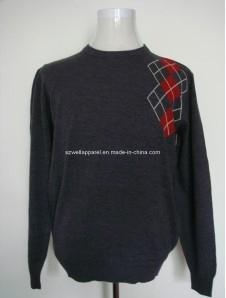 China Man′s Diamond Intarsia Cashmere Sweater (M0941) on sale