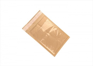 China Brown Kraft Bubble Mailer Envelopes with Pouch for Airway Bill, Inovice, Packing List on sale
