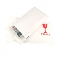 Shock Resistance Recycled White Kraft Bubble Mailer Shipping Envelopes with Tamper Proof