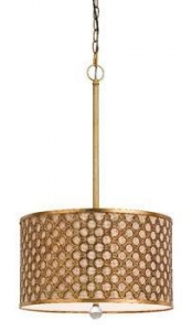China Hollow out Metal with Linen contemporary Pendant lamp on sale