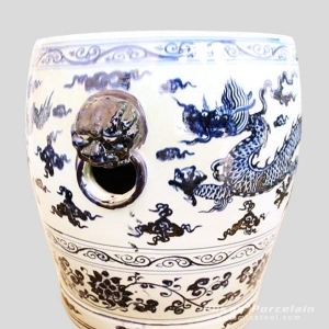 China RYWC02_Blue And White Dragon Ceramic Garden Stool on sale
