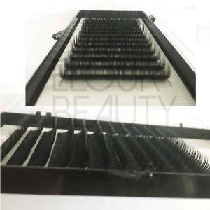 China Eyelash Extensions New hot private label ellipse flat eyelash extensions ES24 on sale