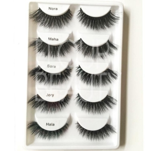 China 3D Lashes Hot selling glamorous 3D real mink eyelashes in 5pairs ES47 on sale