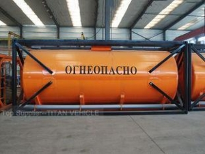 China 20ft container for transporting gasoline and diesel oil and palm oil 24cbm on sale