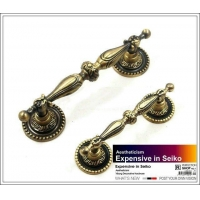 Classical style Bronze Antique Style Cabinet Pull Door Handle( C.C.96 mm Length:125 mm)