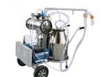 Portable vacuum pump milking machine