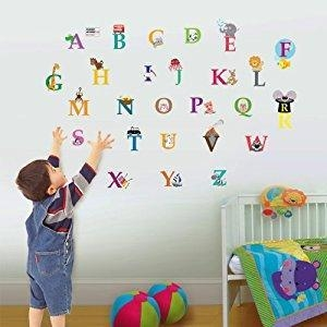 China Walplus Kids Cute Alphabet London Home Nursery Children Girls Room Wall Stickers Paper from Walplus on sale