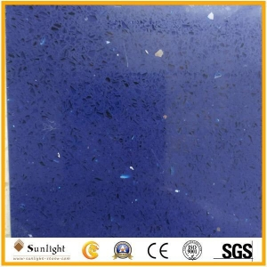 China Star Blue/bule with glass sparlkes quartz stone on sale