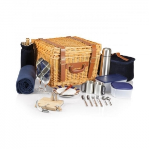 China Picnic Time Canterbury Willow Basket for Two on sale