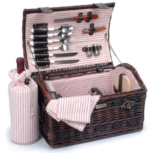 China Picnic & Beyond Couture Collection 2-Person Willow Picnic Basket on sale