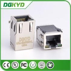 China KRJ - SM002NL metal shielded RJ45 PCB Connector , CAT5 rj45 smt connector DGKYD on sale