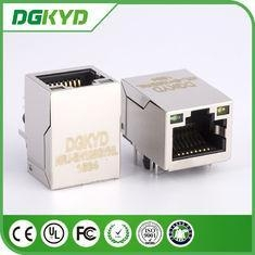 China Shielded RJ45 PCB Connector Vertical Industrial RJ45 Cat6 Connector DGKYD on sale
