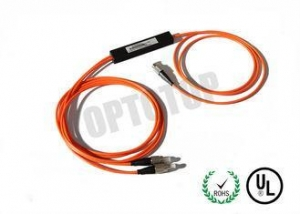 China 1 X 2 2 mm Single Mode WDM , FC / UPC Fiber Optic Cable Splitter 1480 / 1550nm on sale