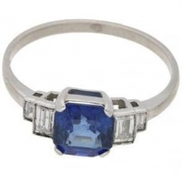 China An Art Deco style sapphire and diamond target ring on sale