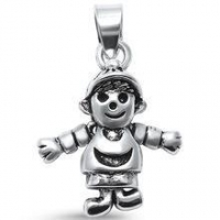China Plain Moving Boy s925 Sterling Silver charms on sale