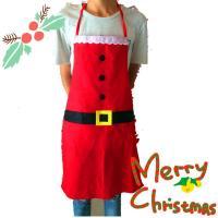 2pcs Christmas Decoration Santa Apron Home Kitchen Cooking Baking Chef Red Apron