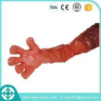 China Veterinary A.I.instruments plastic long arm sleeve gloves for cattle use on sale