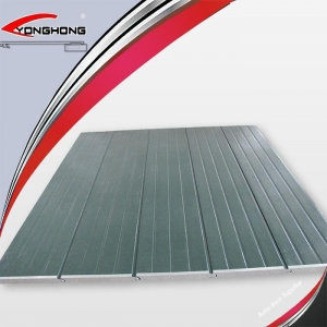 China Timber/flat/stripe Galvanized Garage Door Insulation Panels on sale