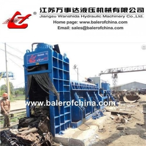 China Hydraulic Metal Baling Shear for car bodies & metal scrap on sale