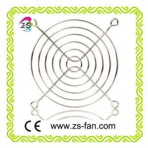 China electric fan parts 90mm Chrome Metal Fan Grill for 9225 cooling fan on sale