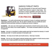 China Daewoo Forklift Parts on sale