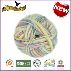 China Charmkey baby knitting yarn fancy colorful alpaca wool acrylic blended belly yarn on sale