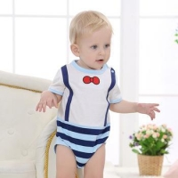 Newest baby party romper clothes baby boy suit design romper set cotton infant toddlers clothing