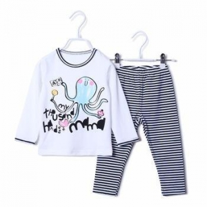 China 100%cotton Long Sleeve Children pajama set latest casual kids sleepwear on sale