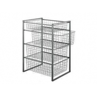 China Steel Wire Mesh Basket with Gray Powder Coating Finish on sale