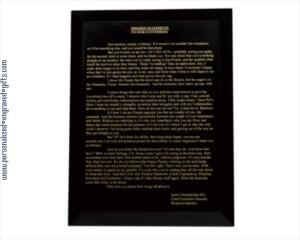 China Awards Engraved Black Marble Plaque on sale