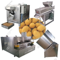 Sugar Flour Coated Peanuts Production Line|Honey Coated Peanut Making Machine