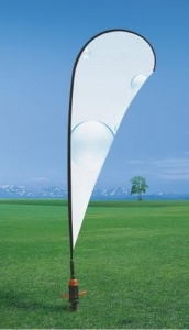 China Cutom Cheap Outdoor Sports Roadside Flag Banners for Advertising Printing on sale