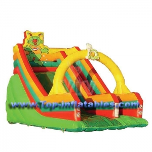 China Inflatable Bouncers Single Lane Slide on sale