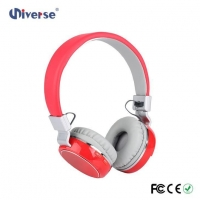 New Arrival Low Price Customize Wireless Stereo Headphone FM Radio Headphone With Sd Card Slot