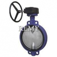 China Worm Gear Desulfurization Wafer Butterfly Valve on sale