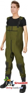 China ADNIN neoprene fly fishing wader waterproof chest waders on sale