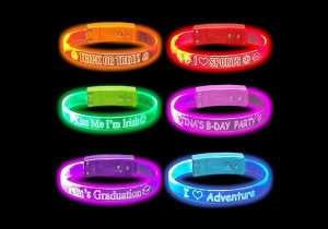 China Silicone Led Bracelet for Parties on sale
