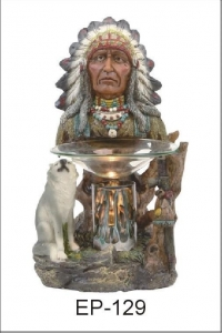 China POLY RESIN OIL BURNER EP-129 NATIVE INDIAN POLY RESIN OIL BURNER on sale