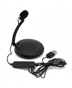 China Generic USB Condenser Desktop Stereo Microphone Recording with Stand for Pc Laptop Skype Black on sale
