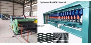 China HDPE Geocell extrusion line. on sale