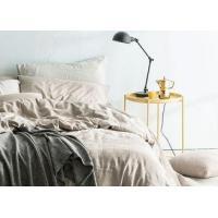 Linen Cotton Dyed Plain Bedding Sets , 4Pcs Comforter Bedding Sets For Home