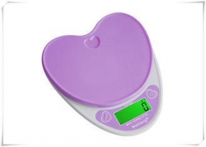 China Heart Shape Portable Food Scale , Strain Gauge Sensor Kitchen Weight Scale on sale