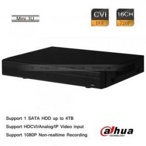 China Dahua 16CH Tribrid Realtime 720P-Pro Mini 1U HDCVI Analog IP Hybrid DVR 1 SATA 4TB on sale