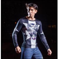 China Sport suit YG1026 Men s Round Neck Digital Printing Sport Running Long Sleeve T Shirt on sale