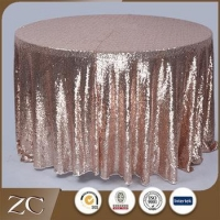 Wholesale new design round wedding sequin table cloth