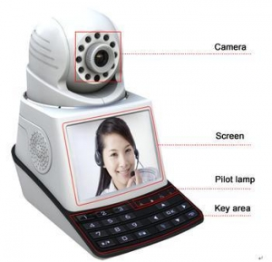 China Smart Wireless IP Video Phone with SIM Card based Camera on sale