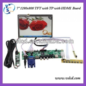 China T.VST29.03 TV/HDMI/VGA/AV/USB/AUDIO LCD Driver Board With 1280x800 Tft Lcd 7inch on sale